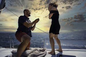 Cerere in casatorie pe mare
